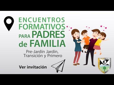 Invitación Encuentros Formativos Para Padres De Familia