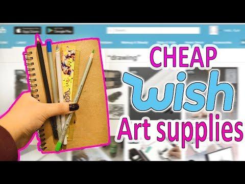 WHAT A MESS...Trying CHEAP WISH Art Supplies
