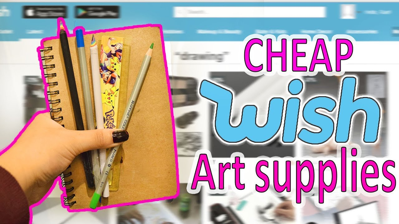 What a mess trying cheap wish art supplies youtube for Craft supplies online cheap