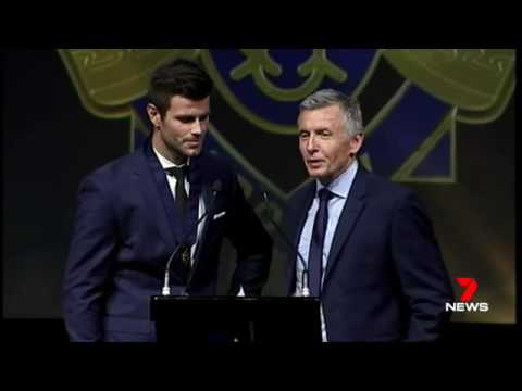 Sam Mitchell and Trent Cotchin AFL Brownlow Medal 2012 Presentation