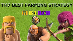 TH7 BEST FARMING STRATEGY -  GIBARCH + Wizards - Clash of Clans 2019