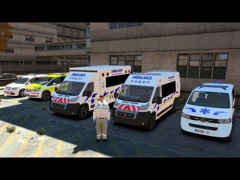 GTA IV Mods French : AMBULANCES & SAMU-SMUR