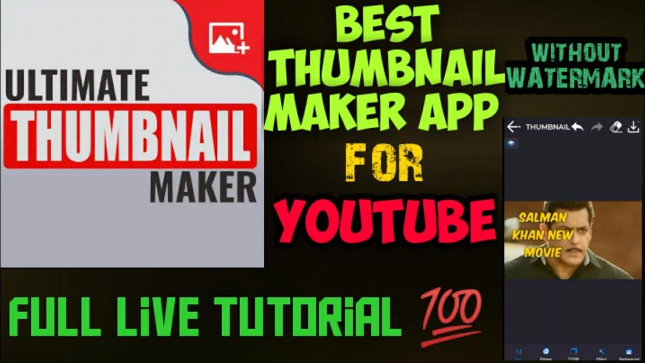 Best Thumbnail Maker App For Youtube Youtube