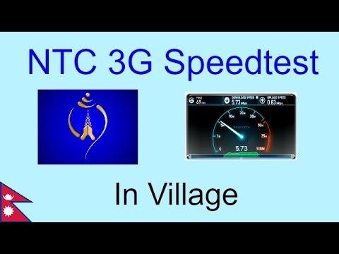 NTC 3G Speed Test in Village