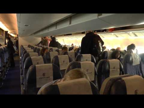 Boarding Egyptair Flight MS777 from Cairo to London