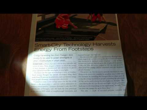 ENERGY HARVESTING TILES FROM PAVEGEN HARVEST ENERGY FROM FOOTSTEPS