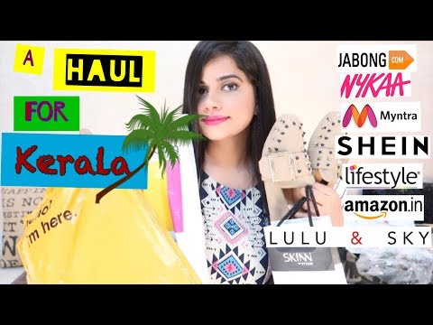 A HAUL FOR KERALA | DRESSES, JEANS, SHOES, PERFUME, KINDLE ETC. | Sana K