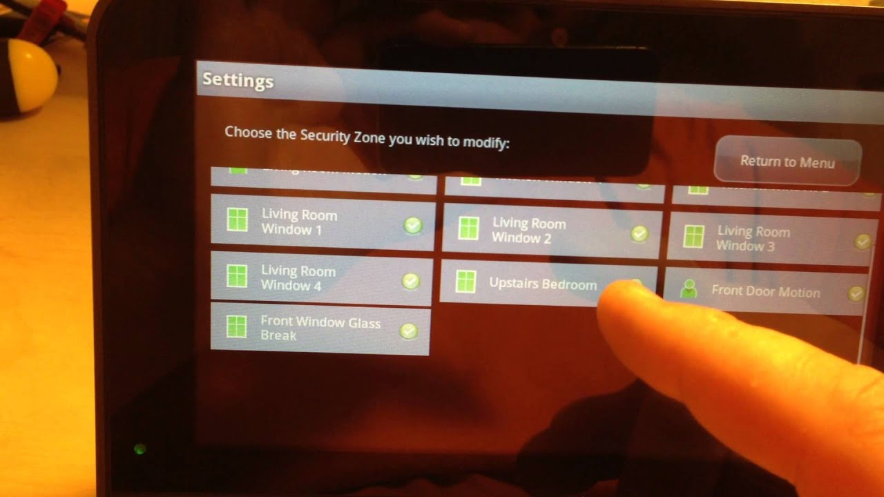 xfinity home security settings entry