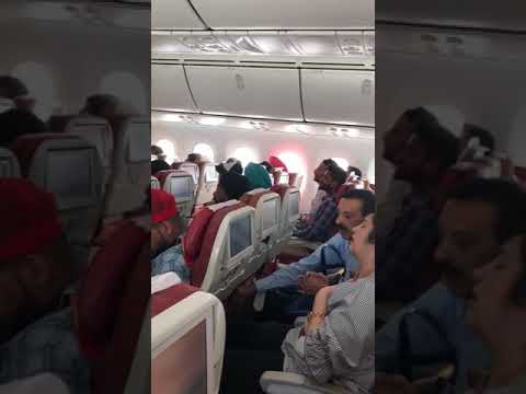 Air India passengers frightened. Window breaks in flight. Very very bad.