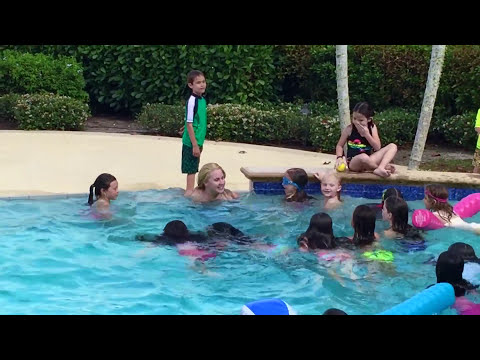 Real Life Mermaid & Dolphin Sighting at Children's Birthday Pool Party Event