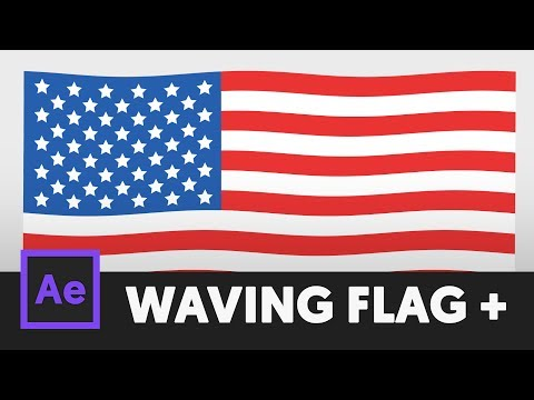 Flag Animation - After Effects Tutorial (No Third Party Plugin) - T074