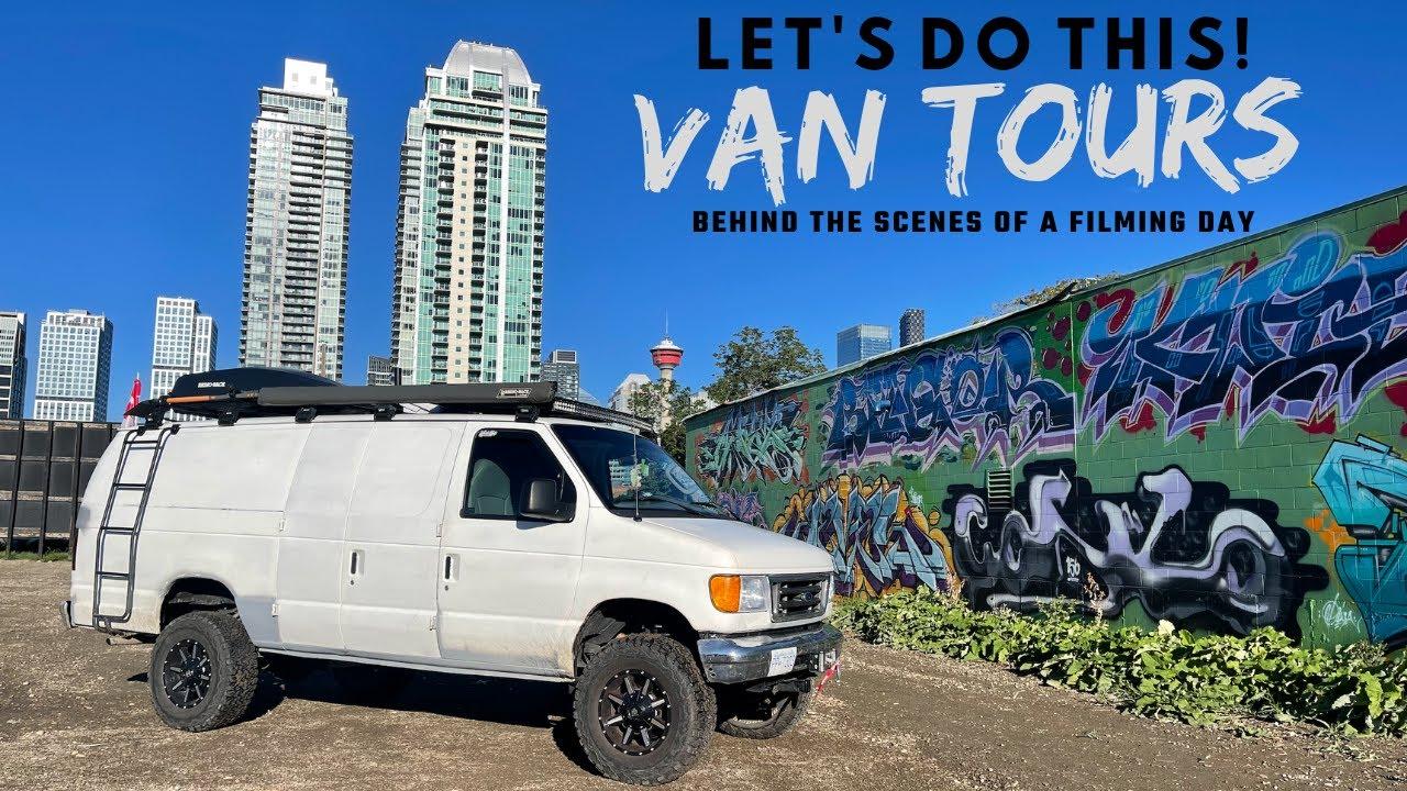 Meeting Van Dwellers And Filming VAN TOURS. Calgary Alberta Let's Do This!!!!