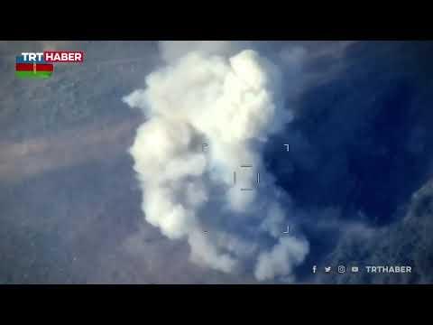 Azerbaycan ordusu Ermeni hedeflerini böyle vurdu