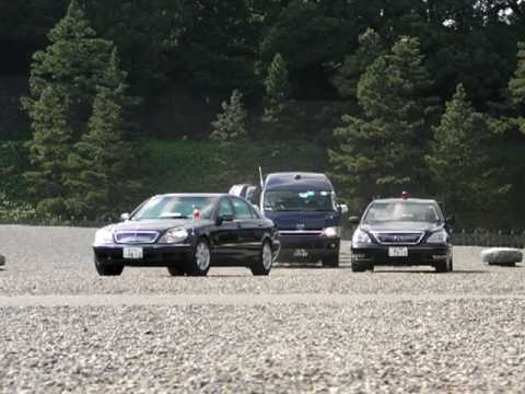 Motorcade of President Italy leaving Imperial Palace