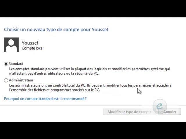 Windows 8 : Leçon  4 :  كيفية إنشاء حساب جديد في الويندوز 8 ( Création  de  compte Utilisateur )