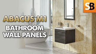 Abacus M1 PVC Waterproof Bathroom Wall Panels - YouTube
