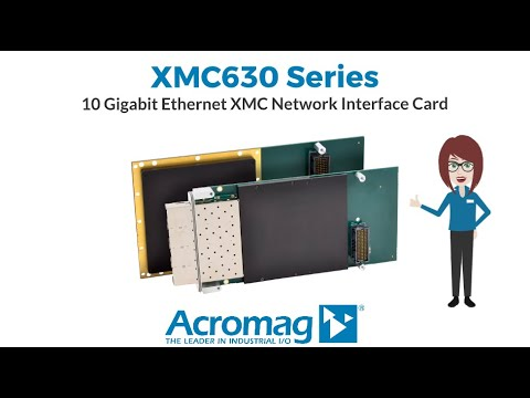 Acromag XMC630 Series 10-GbE Ethernet Network Interface Card (NIC)