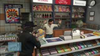 Grand Theft Auto V Online:  Robbing a Convenience Store