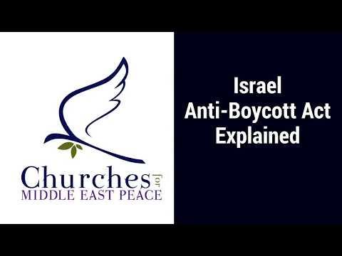 Israel Anti-Boycott Act Explained