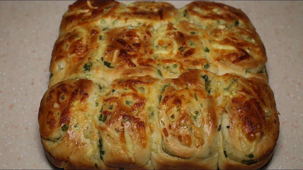 Праздничный хлеб с зеленым луком и сыром. Воздушный и супер вкусный! Луковый пирог.