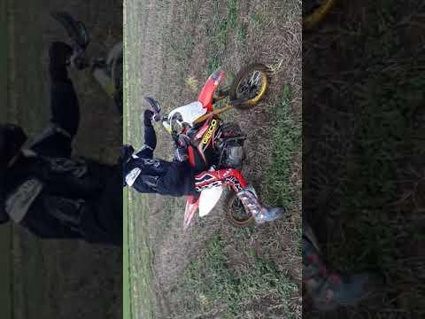 Full throttle on a 140cc pit bike