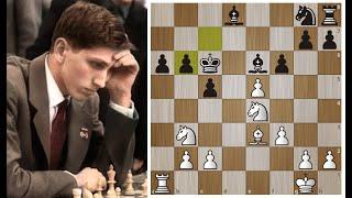 Самая БЫСТРАЯ победа Фишера над Спасским! 21 ХОД!  Шахматы.