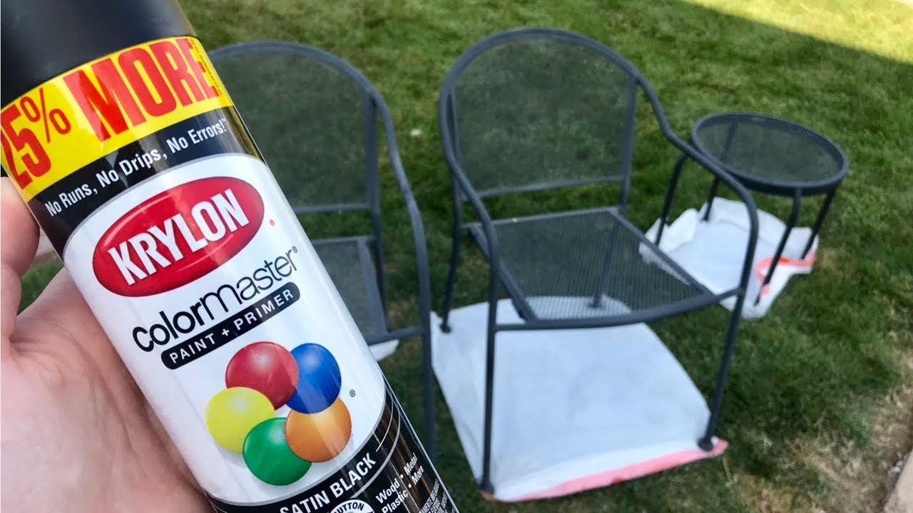 How To Spray Paint Metal Outdoor Furniture Cheap Diy