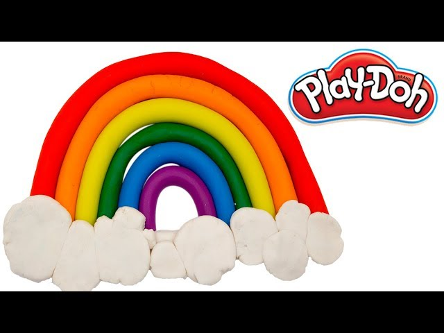 DIY How to make a Play Doh Rainbow  | PlayDoh for kids | PlayDoh learn colors
