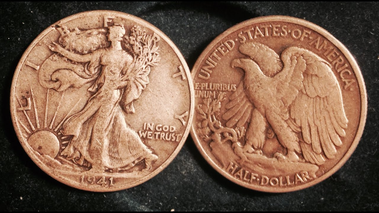 1943-P WALKING LIBERTY HALF DOLLAR 90 /% SILVER FAIR TO GOOD CONDITION