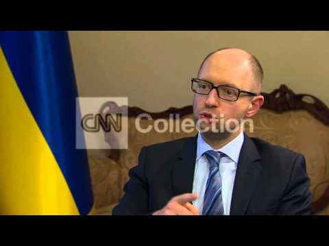 UKRAINE: YATSENYUK - NO TRUST OF THE RUSSIANS