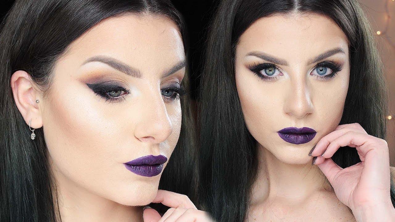 Estremamente Full Face DRUGSTORE Vampy Cat Eye Bold Winged Eyeliner Dark Lips  IJ26