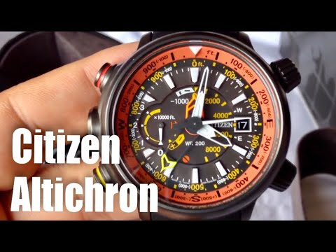 cfb944f21 Citizen Eco-Drive Promaster Altichron solar compass watch unboxing and  review BN5035-02F