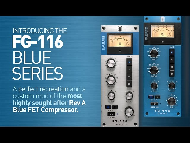 Slate Digital FG-116 Blue Series compressor for VMR