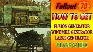 Fusion Generator Plans Location Fallout 76 Large Generator