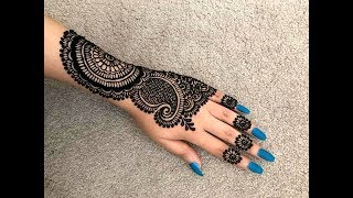 How to apply Beautiful latest trendy stylish heavy Bridal henna mehndi designs for hands 2018