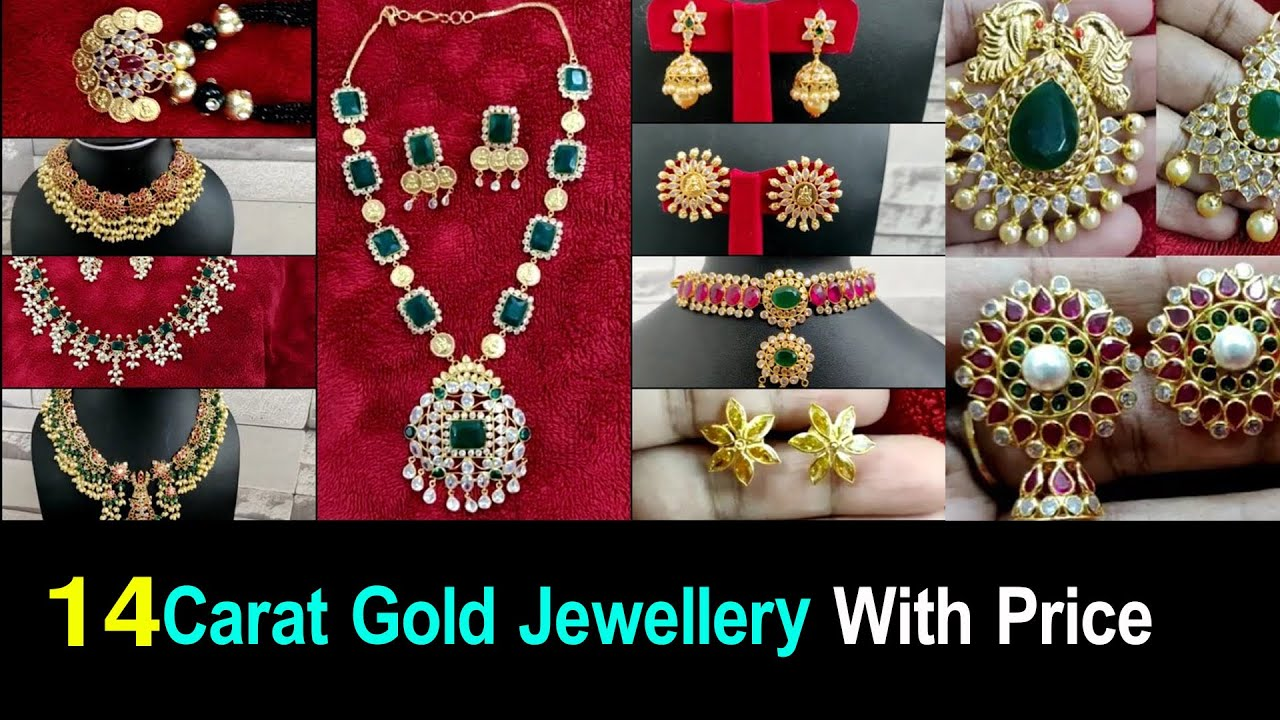 14 Carat Gold Jewellery With Price🤗