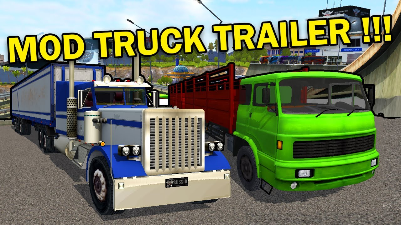 BUSSID Trailer Truck Mod Preview