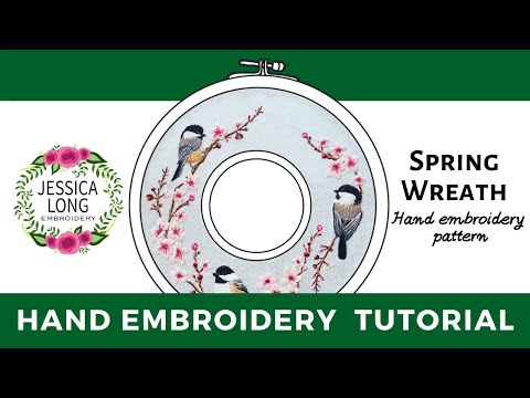 Spring Wreath Embroidery Pattern Tutorial
