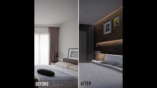 Before and After Bedroom Remodel lumion 9 x sketchup