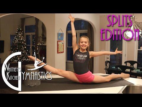 how-to-do-the-splits-|-whitney's-kitchen-gymnastics-|-oversplits-edition