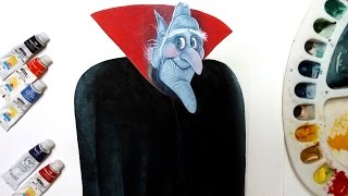 how to draw Vlad from hotel Transylvania 2-Drawing tutorial