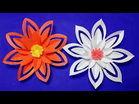 DIY paper flower#How to make paper cutting flower design-Easy craft