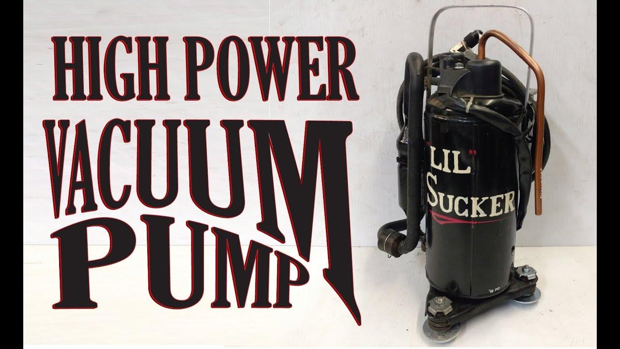 Make a Vacuum Pump for AC in Cars, HVAC, or FUN