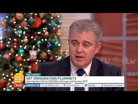 Immigration Minister Comments on Net Immigration   Good Morning Britain