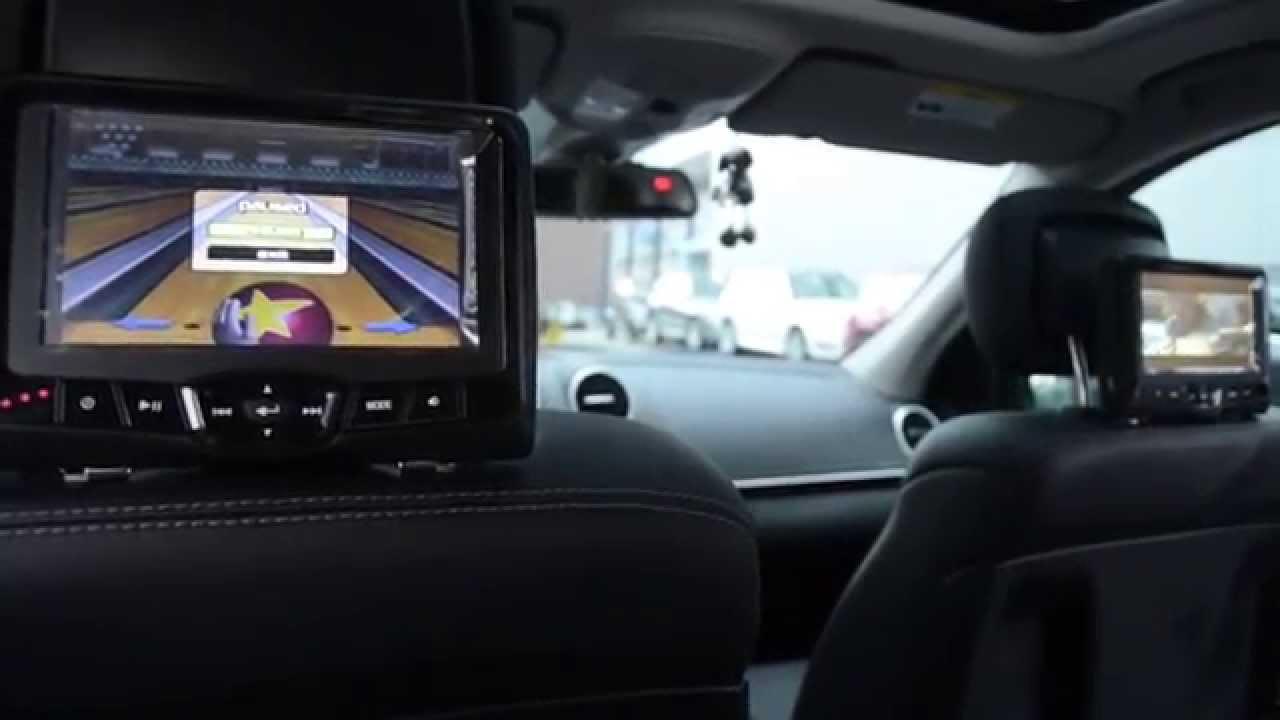 Rosen dvd headrests 2014 mercedes benz gl450 youtube for Mercedes benz dvd player