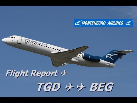 Flight Report | Montenegro Airlines Fokker 100 Economy class Podgorica to Belgrade