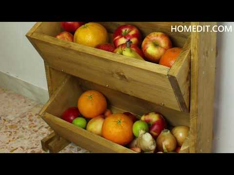 DIY Market-Style Wooden Fruit Holder