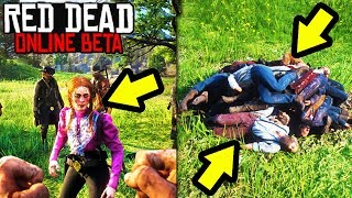 THE ENTIRE SEVER DID SOMETHING AMAZING in Red Dead Online! Red Dead Redemption 2 Funny Moments!