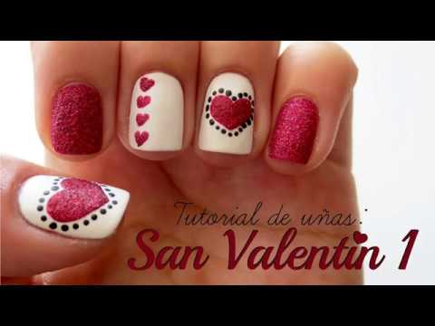 Uñas Decoradas Para 14 Febrero Youtube
