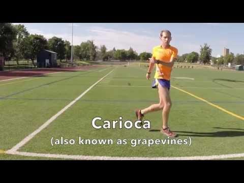 Carioca Running Form Drill Demonstration
